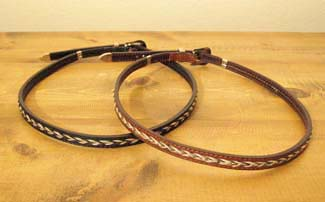 Leather/Horsehair Buckle Hat Band   Wild West Mercantile