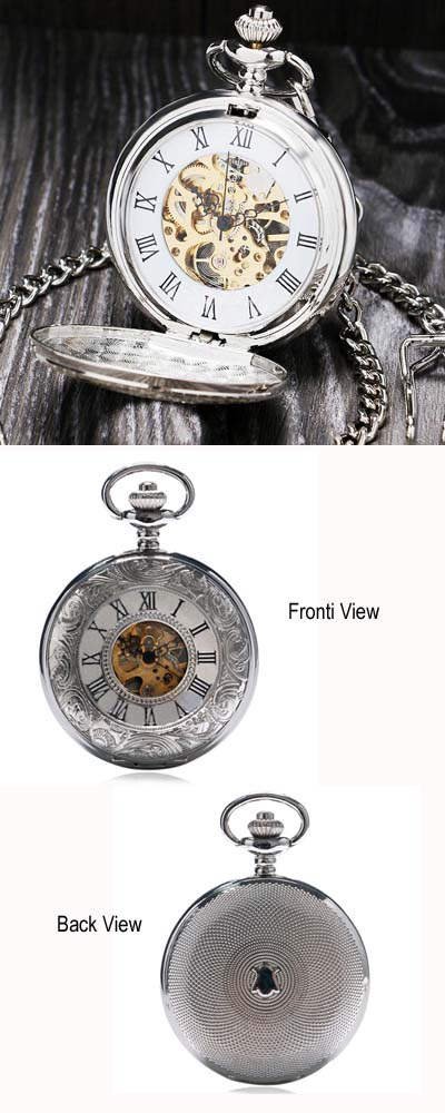Double Open Pocket Watch
