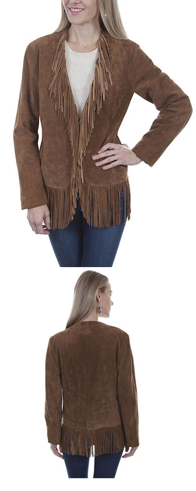 Ladies Fringe Coat