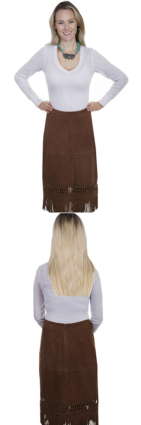 Lamb Suede Skirt