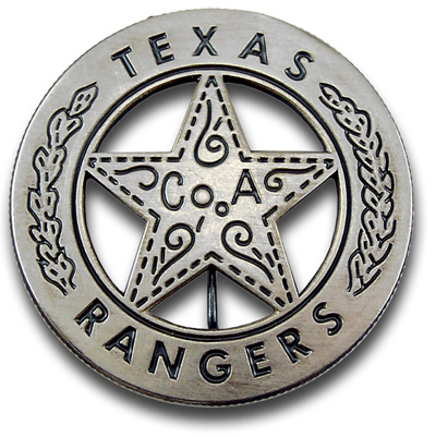 Texas Rangers Company A - Peso Badge