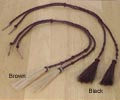 [ Braided Leather Stampede String]