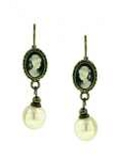 [1928 Jewelry® Cameo Earrings]