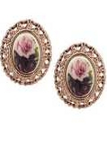 [1928 Jewelry® Amy Flower Button Earrings]