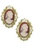 [1928 Jewelry® Cameo Post Earrings]