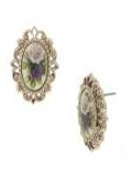 [1928 Jewelry® Amy Flower Oval Earrings]