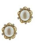 [1928 Jewelry® Round Pearl Post Earrings]