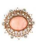 [1928 Jewelry® Oval Cabachon Brooch]