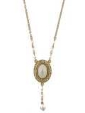 [1928 Jewelry® Oval Pearl Necklace]