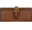 [Scully Western Lifestyle  Buckle Tab Leather Wallet]
