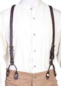 [Wah Maker Leather Braided Suspenders]