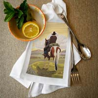 [Lantern Press Cowboy Dish Towel]
