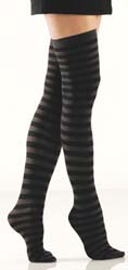 [ Stripe Opaque Thigh Highs]