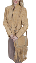 [Scully Western Lifestyle  Fringe Handbag]