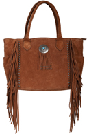 [Scully Western Lifestyle  Leather Fringe Handbag]