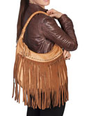 [Scully Western Lifestyle  Fringe Leather Handbag]