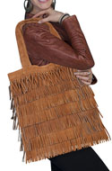 [Scully Western Lifestyle  Fringed Handbag]