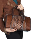 [Scully Western Lifestyle  Zip Top Leather Handbag]