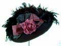 [ Large Brim Taffeta Trim Hat]