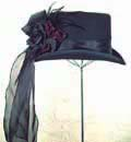 [ Taffeta Trim Top Hat]