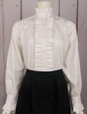 [Frontier Classics Ruffle Front Blouse]