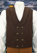 [Frontier Classics Double Breasted Canvas Vest]