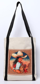 [ Cowgirl Canvas Tote ]
