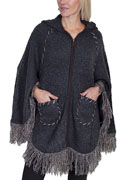 [Scully Honey Creek Ladies Hooded Poncho]