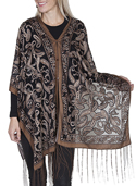 [Scully Honey Creek Ladies Paisley Wrap Scarf]