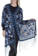 [Scully Honey Creek Ladies Rose Wrap Scarf]