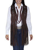 [Scully Honey Creek Ladies Fringe Vest]