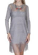 [Scully Honey Creek Ladies Lace Fringe Dress]