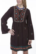 [Scully Honey Creek Ladies Embroidered Dress]
