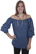 [Scully Honey Creek Denim Blouse*]