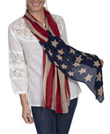 [Scully Honey Creek Flag Scarf]
