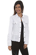 [Scully Honey Creek Lace Inset Jean Jacket]