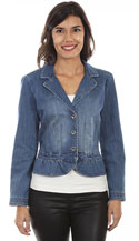 [Scully Honey Creek Peplum Denim Jacket]