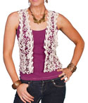 [Scully Honey Creek Crochet Vest *]