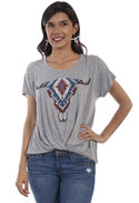 [Scully Honey Creek Longhorn Tee]