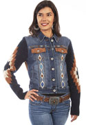 [Scully Honey Creek Embroidered Denim Jacket*]