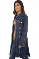 [Scully Honey Creek Long Denim Jacket]