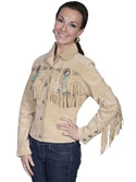 [Scully Ladies Fringe & Beaded Jacket]