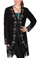[Scully  Ladies Fringe Embroidered Coat]