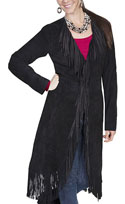 [Scully  Ladies Fringe Coat]