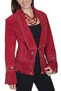[Scully Ladies Leather Concho Jacket]