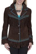 [Scully Ladies Suede Embroidered Jacket]