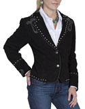 [Scully Ladies Suede Bootstitch Jacket]