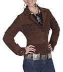 [Scully Ladies Suede and Lace Jacket]