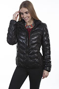 [Scully Ribbed Leather Jacket]