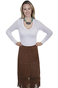 [Scully Lamb Suede Skirt]